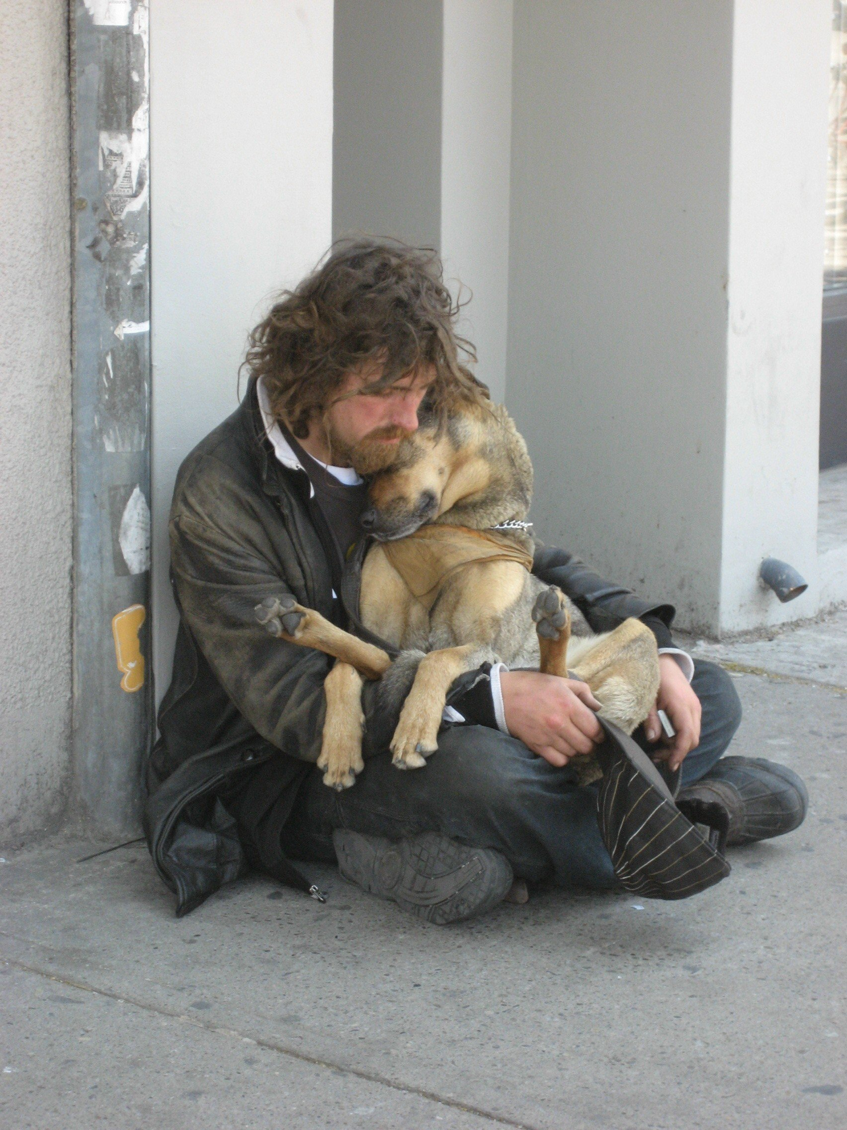 http://newworldodor.files.wordpress.com/2009/02/homeless-cuddling-dog-by-kirsten-bole-100-dpi.jpg