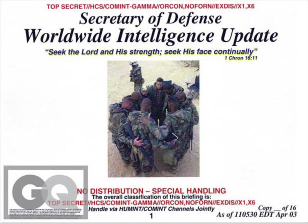 Rumsfeld Intelligence Briefing